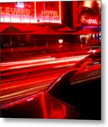 South Beach Red Metal Print