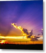 South Central Nebraska Sunset 008 Metal Print