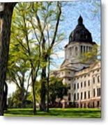South Dakota Capitol Oil Painting Metal Print