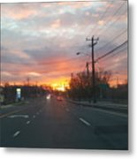 South End Sun Rise Metal Print