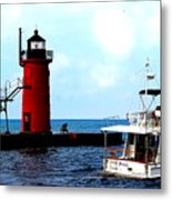 South Haven Michigan Lighthouse By Earl's Photography Metal Print