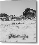 South Hessary Tor In The Snow Metal Print