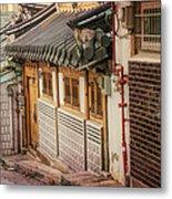 South Korean Hanok Street Metal Print