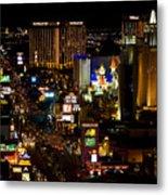 South Las Vegas Strip Metal Print