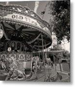 South London Carousel Metal Print