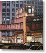 South Loop El Metal Print