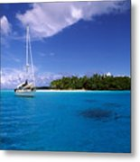 South Pacific Anchorage Metal Print