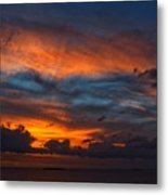 South Pacific Sunset Metal Print
