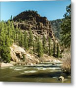 South Platte In Heavy Spring Flows And Wind Metal Print