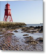 South Shields Groyne Metal Print