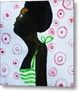 South Sudanese Lady Metal Print