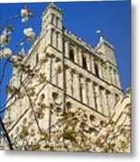South Tower Exeter Cathedral Metal Print