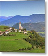 South Tyrolean Panorama Above Bolzano. Metal Print