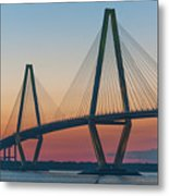 Southern Glow Over The Cooper Metal Print