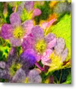 Southern Missouri Wildflowers 1 - Digital Paint 2 Metal Print