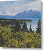 Southern New Zealand Lake Pukaki Metal Print