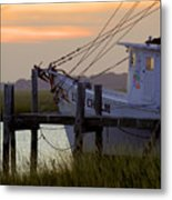 Southern Shrimp Boat Sunset Metal Print