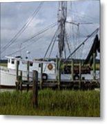 Southern Shrimpboat, Edisto Island, South Carolina  Metal Print