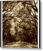 Southern Welcome In Sepia Metal Print