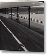 Southport Fc - Haig Avenue - Scarisbrick End 1 - Bw - Early 60s Metal Print