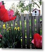 Southside Poppy Garden Metal Print
