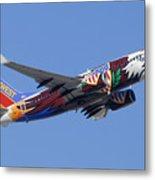 Southwest 737 Illinois One At Phoenix Sky Harbor December 2 2010 Metal Print