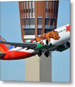 Southwest Boeing 737-3h4 N609sw California One Phoenix Sky Harbor January 21 2016 Metal Print
