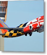 Southwest Boeing 737-7h4 N214wn Maryland One Phoenix Sky Harbor January 19 2016 Metal Print