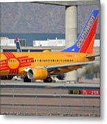 Southwest Boeing 737-7h4 N781wn New Mexico Phoenix Sky Harbor January 17 2016 Metal Print