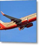 Southwest Boeing 737-7h4 N792sw Retro Gold Phoenix Sky Harbor January 21 2016 Metal Print