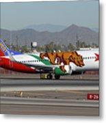 Southwest Boeing 737 California At Phoenix Sky Harbor November 10 2010 Metal Print