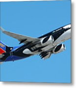 Southwest Boeing 737 Shamu At Sky Harbor April 13 2006 Metal Print