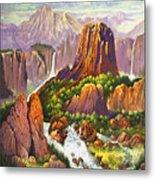 Southwest Mountain Floodwaters Metal Print
