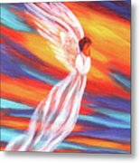 Southwest Sunset Angel Metal Print