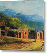 Southwest Village Metal Print by Robert Carver