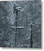 Southworth Windmill Snow Bound Metal Print