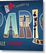 Souvernirs De Paris Metal Print