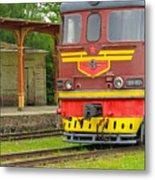 Soviet Era Train In Haapsalu Estonia Metal Print