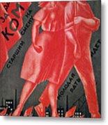 Soviet Poster, 1924 Metal Print