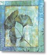 Spa Gingko Postcard 1 Metal Print