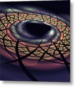 Space Fabric Punctured Metal Print