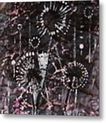 Space Flowers Metal Print