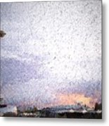 Space Needle And Emp At Sunset Metal Print