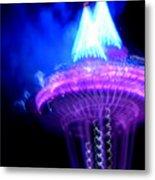 Space Needle Fireworks Metal Print