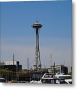 Space Needle From The Harbor Metal Print