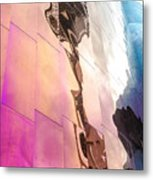 Space Needle Reflection Metal Print