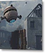 Space Probes And Androids Survey An Metal Print by Mark Stevenson