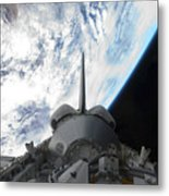 Space Shuttle Endeavours Payload Bay Metal Print by Stocktrek Images