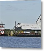 Space Shuttle Inspiration On A Barge Metal Print