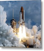 Space Shuttle Launching Metal Print